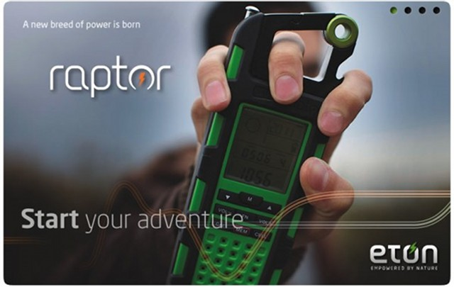 Eton Raptor rugged solar charger helps you survive in the wild