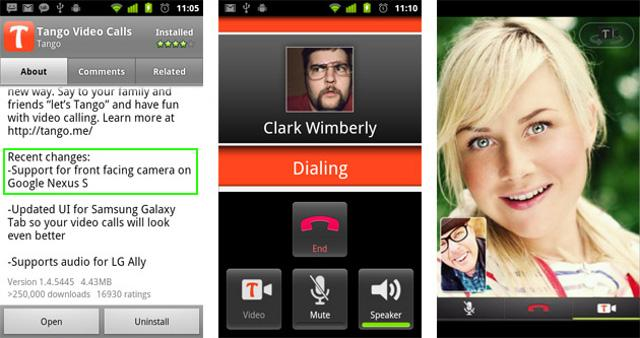 Tango beats Google to video calls on Nexus S