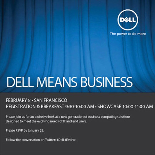 dell hosting a business event on feb 8th ubergizmo