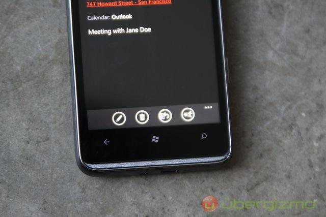 HTC HD7 Windows Phone 7 buttons