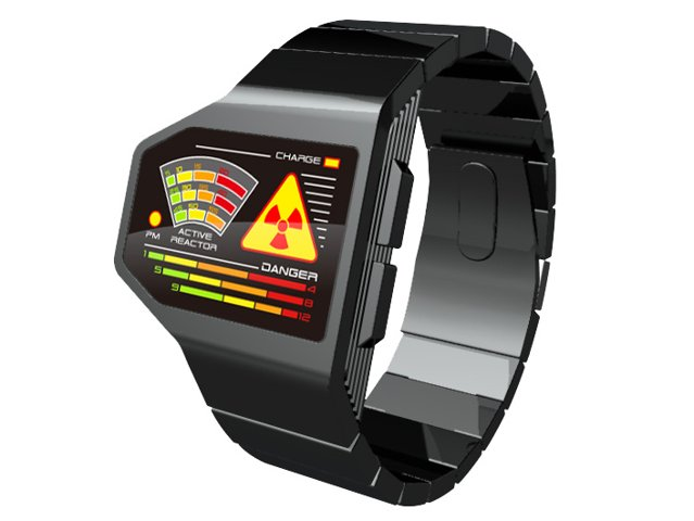 Tokyoflash radiation level LED concept watch looks rad