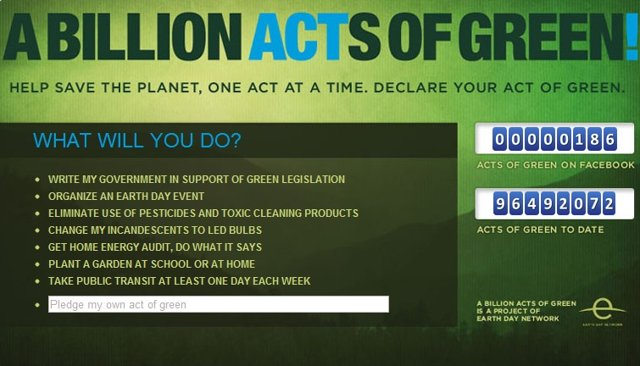 Earth Day Network and Facebook release Billion Acts of Green app