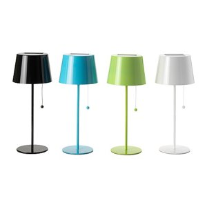cute little solar powered table lamps from ikea modernlv. Black Bedroom Furniture Sets. Home Design Ideas