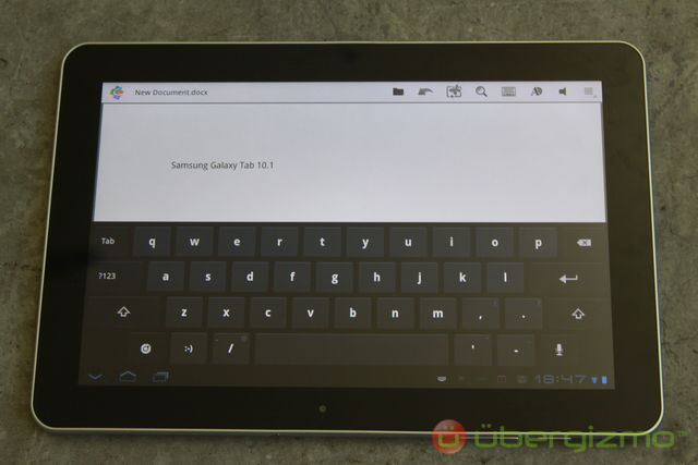 Galaxy Tab 10.1 clavier Android 3.0