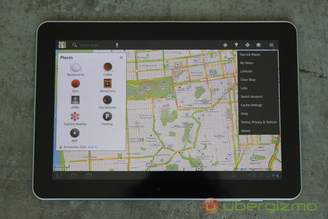 Galaxy Tab 10.1 Google Maps