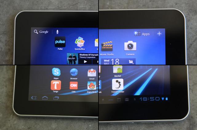 Système des icônes du Galaxy Tab 10.1