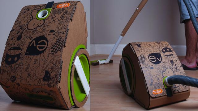 A Vacuum Cleaner Made Out Of Cardboard