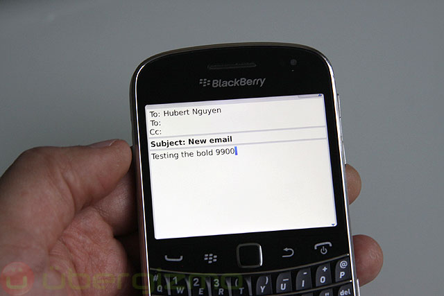 Test du Blackberry Bold 9900