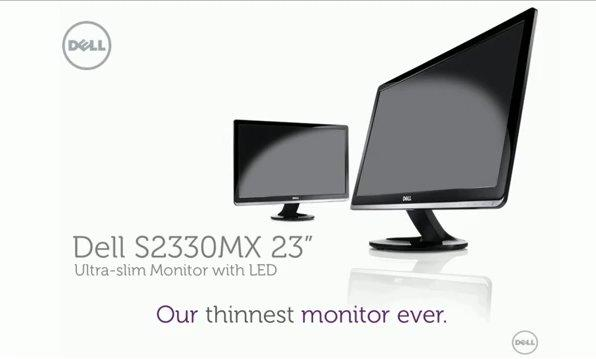 Dell S2330MX is thinnest monitor ever