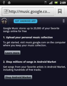 Evidence of Googles Music Download Store