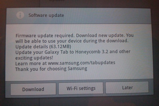 Samsung Galaxy Tab 10.1 receives botched Honeycomb update