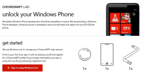 ChevronWP7 Windows Phone unlocker is back in action