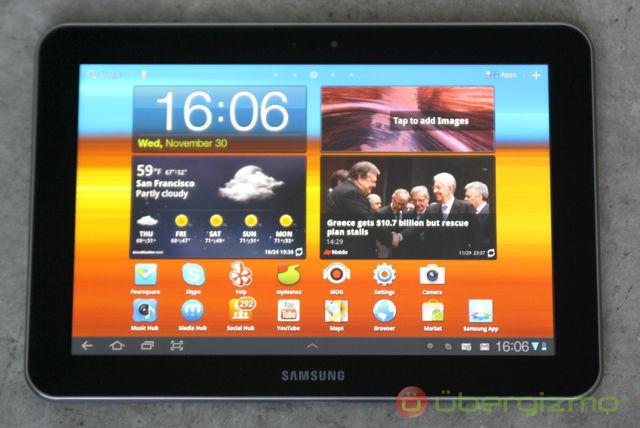 Galaxy tab 8.9 front