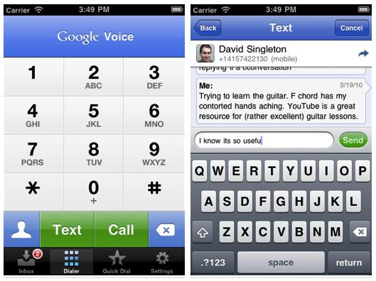 Google Voice for iPhone updated with Sprint integration