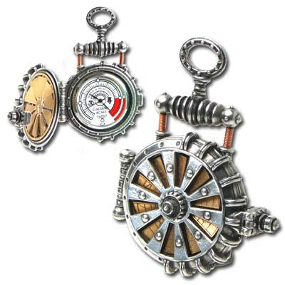 Steampunk inspired pocket watch is solar powered