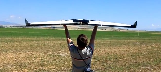 AggieAir Flying Circus is a slingshot UAV