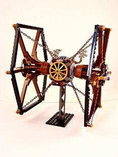 Steampunk TIE Fighter is an object of beauty