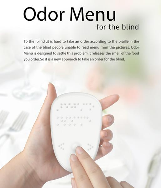 The Odor Menu concept lets the visually impaired order by smell