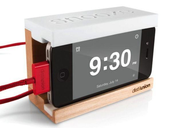 Distil Unions Snooze iPhone accessory gives users a giant snooze button to press