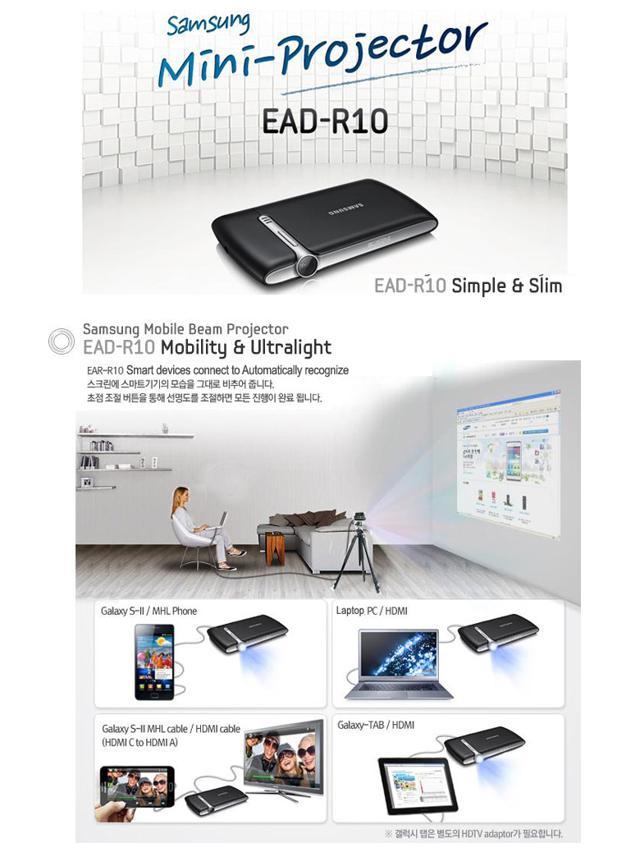 Samsung Mobile Beam Projector Accessory | Ubergizmo