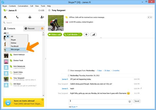Msn messenger updating to skype
