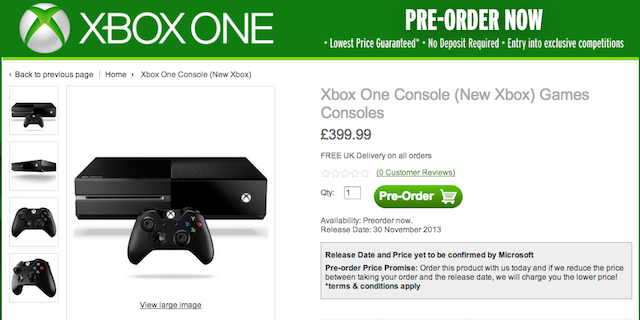 "Xbox one release date ""later this year"" slashgear."