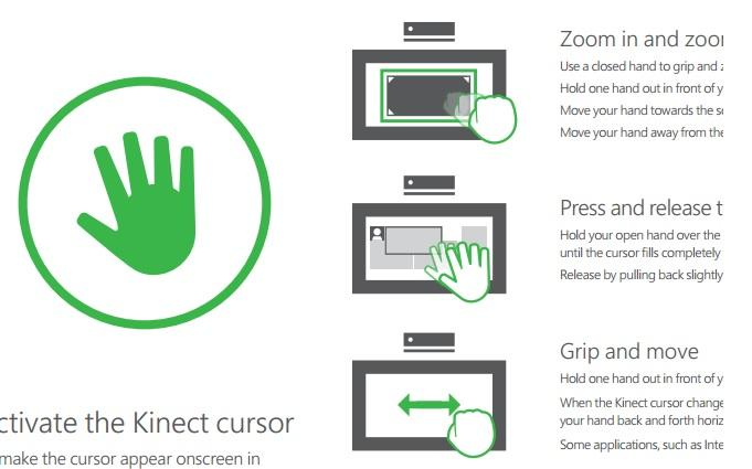 Xbox ones kinect voice and gesture cheat sheet released ccuart Image collections