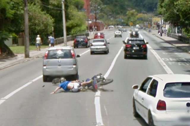 Google Street View Car Caught Crashing Motorcyclist On ...