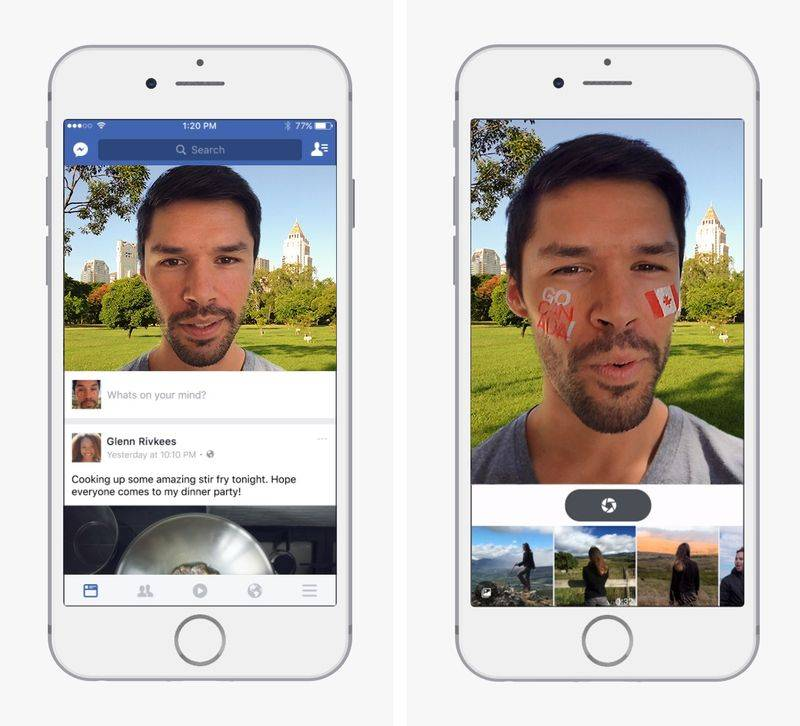 Facebook Starts Testing Snapchat-like Camera With Filters & Stickers