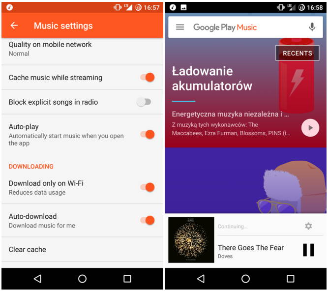 google play music testing out autoplay resume playback feature