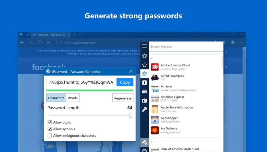 1Password Extension Now Available For Microsoft Edge | Ubergizmo