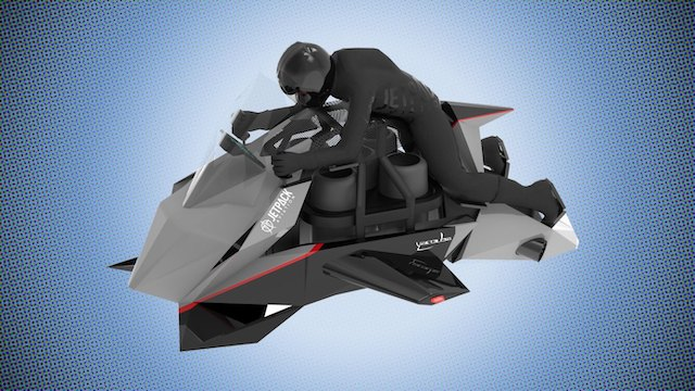 $380K 'Flying Motorcycle' Uses Five Modified Jet Engines